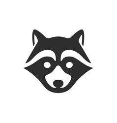 Black raccoon icon isolated on white background vector