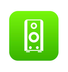 black sound speaker icon digital green vector image