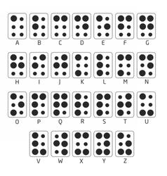 BrailleAlphabet vector image