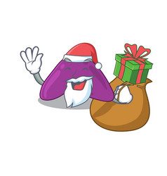 Cartoon design adrenal santa having christmas vector