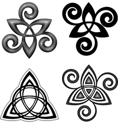 Celtic triskel symbols set vector