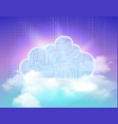 cloud storage symbol vector image