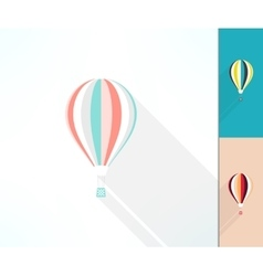 Colorful hot air balloon made in modern flat vector