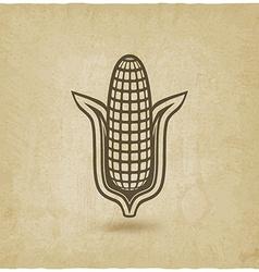 corn symbol old background vector image