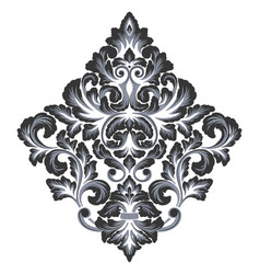 Damask element isolated damask central vector
