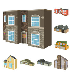 design building and home symbol vector image