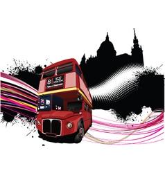 double decker bus vector image