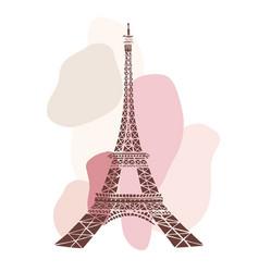 Eiffel tower paris france vector