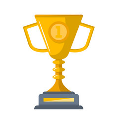 first place golden cup isolated icon vector image