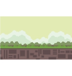 Flat backgrounds game scenery vector