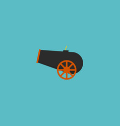 flat icon cannon element of vector image
