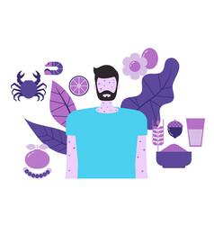 Food allergy concept food allergy vector