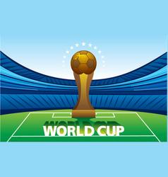Football world cup poster design vector