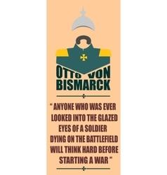 German infantryman World war Otto von Bismarck vector image