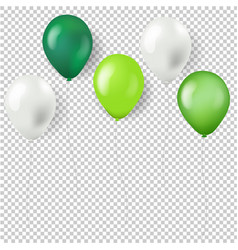 green balloons isolated transparent background vector image