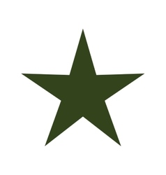 green star isolated icon vector image