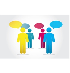 Group Business People Working and Speech Bubble vector image vector image