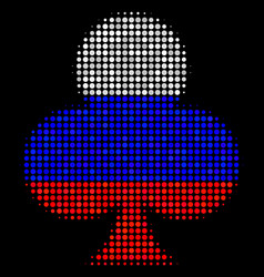 Halftone russian clubs suit icon vector