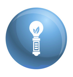 hand eco bulb icon simple style vector image