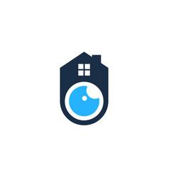 house eye logo icon design vector image