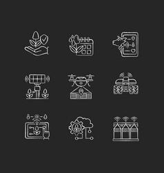 Innovation technology rgb chalk white icons set vector
