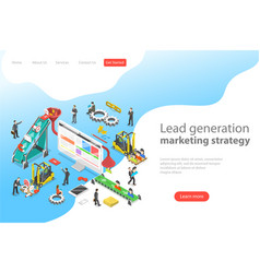 Isometric flat concept lead generation vector