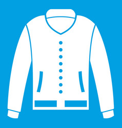 jacket icon white vector image vector image
