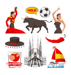 Landmarks and cultural objects and symbols vector