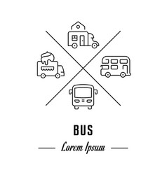 line banner bus vector image