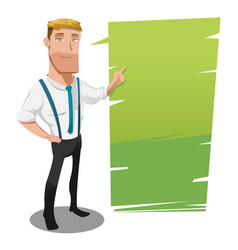 man cartoon worker presentation template vector image