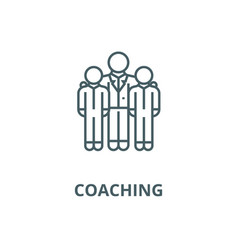 Mentormentorshipcoaching line icon vector