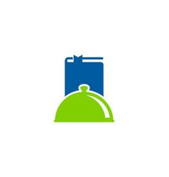 menu book logo icon design vector image