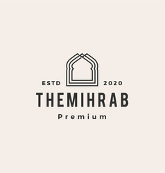 mihrab hipster vintage logo icon vector image