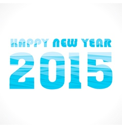 New year 2015 greeting wave pattern design vector