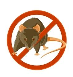 No rat sign vector