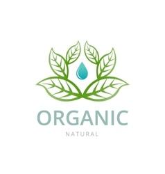 Organic emblem template vector image