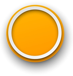Paper white-orange round speech bubbles vector image