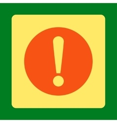 Problem flat orange and yellow colors rounded vector