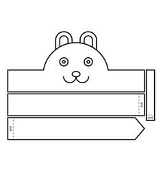Rabbit coloring headband vector
