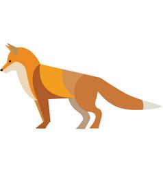 Red fox winter vector