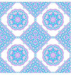 Seamless pattern from round mandalas vector