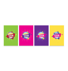 sets opening soon banner vector image