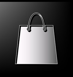 shopping bag gray 3d printed vector image vector image