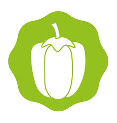 Sticker healthy pepper vegetable icon vector