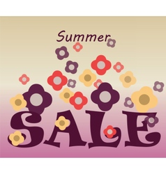 Summer Sale commercial banner vector