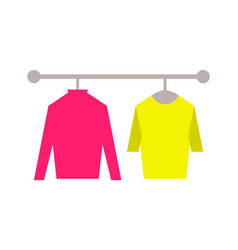 Sweaters clothing store set vector