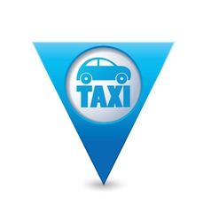 Taxi icon map pointer4 blue vector