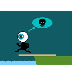 The blue eye suicide jump to sea vector image vector image