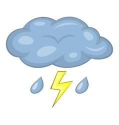 Thunderstorm icon cartoon style vector