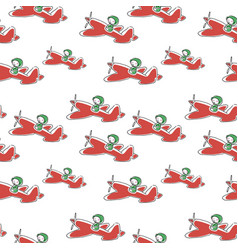 Toy airplane pattern seamless background drawn by vector